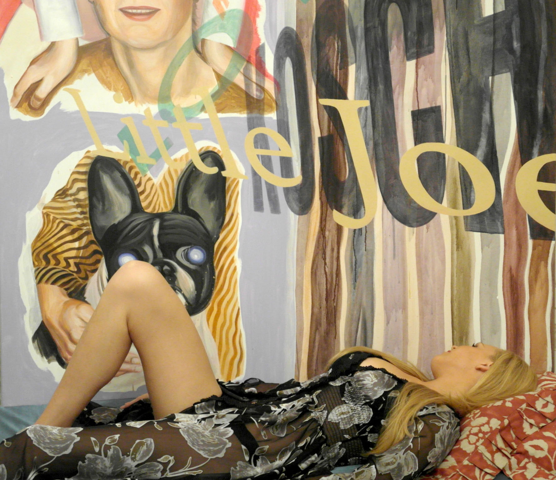 katryna martens im peignoir le coucher du soleil, IVR studio, 2014  painting_gunter reski  photo_josefne walther