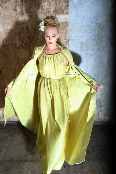 11-Nightdress Galatea mit Peignoir Robe de Chambre
