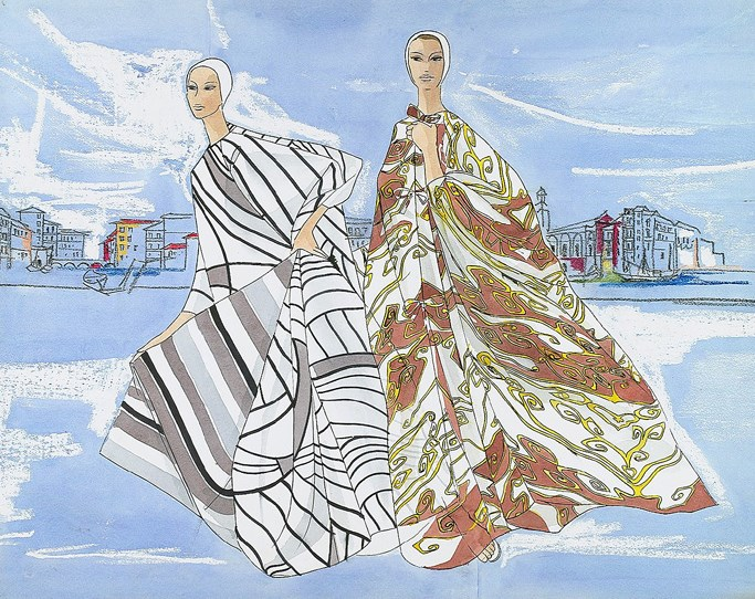 @Illustration of modern caftan