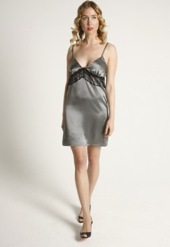 Short Silk Slip Court flint